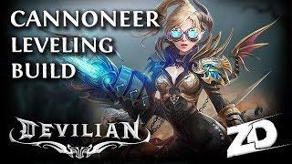 DEVILIAN: Cannoneer Leveling Build Guide - The Gunslinger [Devilian Beginner's Class Guide]