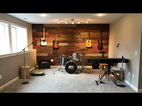 Accent PLANK Wall Build on a BUDGET - DIY Cheap Barn Wood Rustic Shiplap