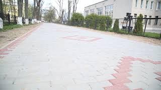 Наконец-то! Обновили дорожку возле школы №6 в Солигорске