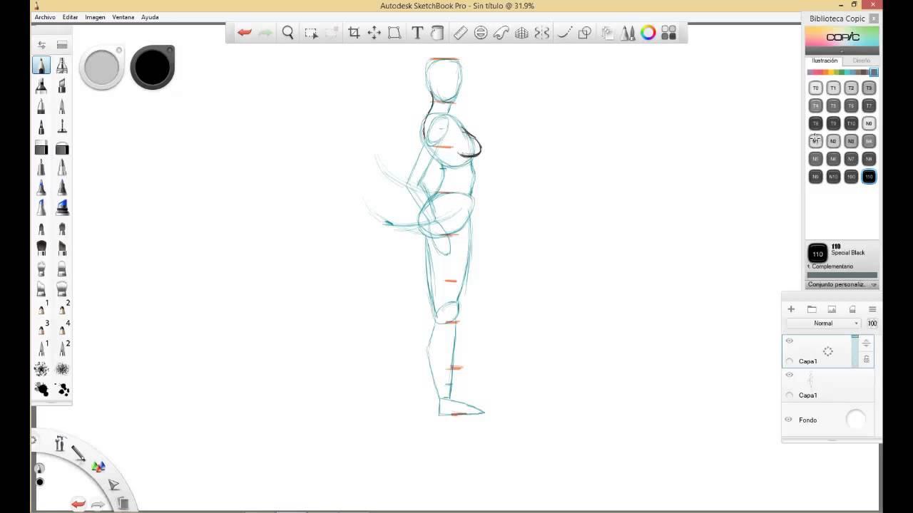 Como Dibujar El Cuerpo De Una Mujer De Perfil