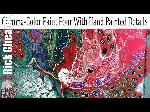 Project Using Chroma Color Paints and Embellished With Paint Markers flow art
