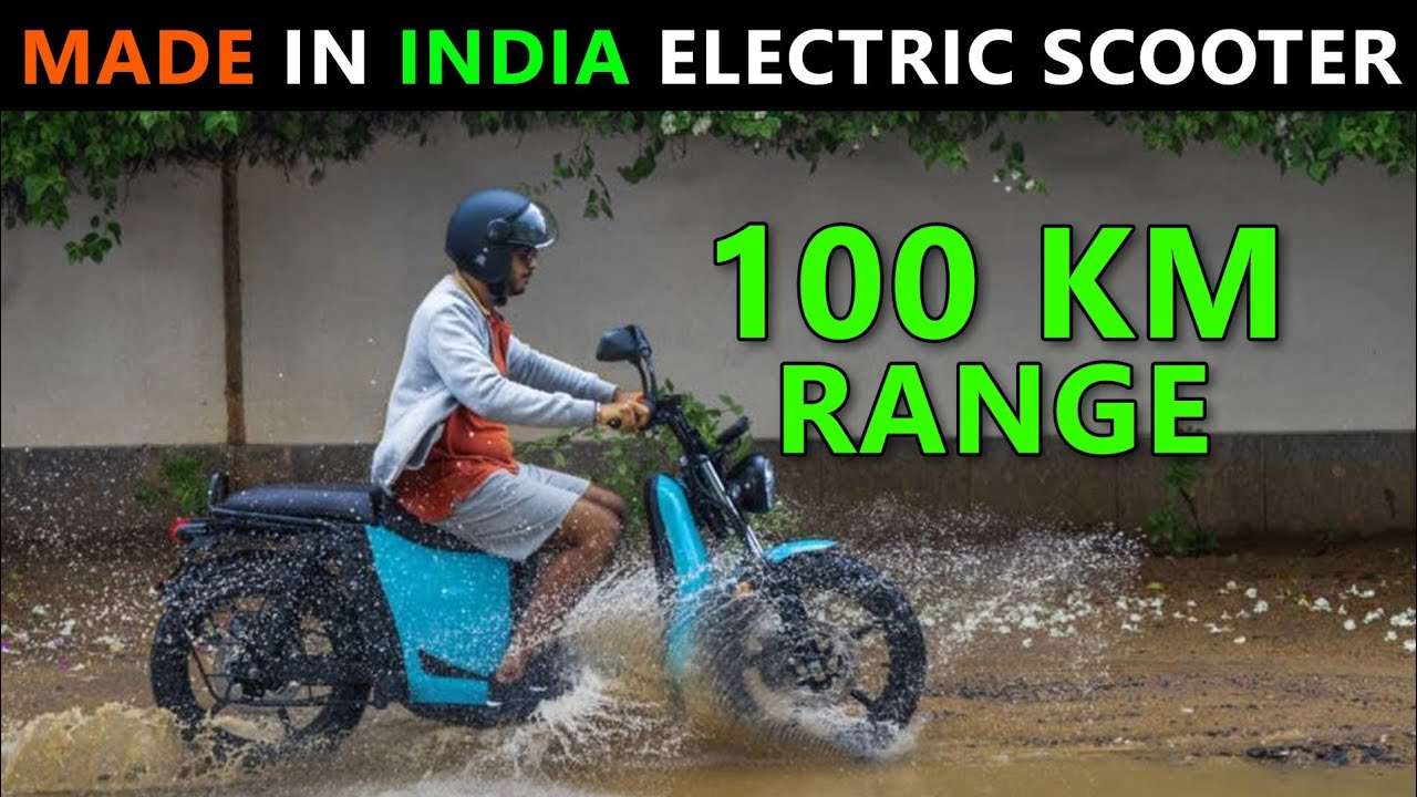 Made in India Electric Scooter - Aventose Energy S110 | 100 km Range