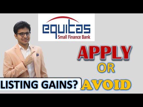 EQUITAS SMALL FINANCE BANK IPO | EQUITAS IPO | EQUITAS IPO REVIEW |