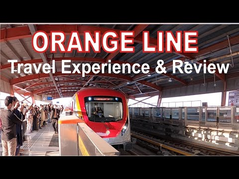 Orange Train Lahore Travel and Review | Metro Train Travel in Lahore | Orange Line Lahore