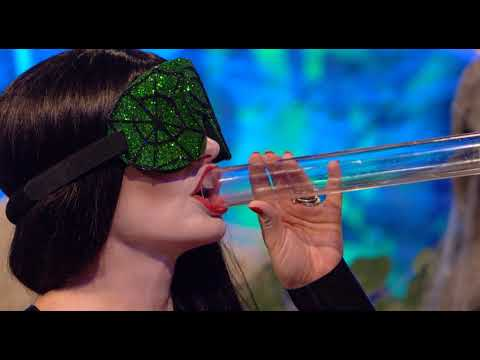 Holly Willoughby plays The Tube - Celebrity Juice Halloween 2018