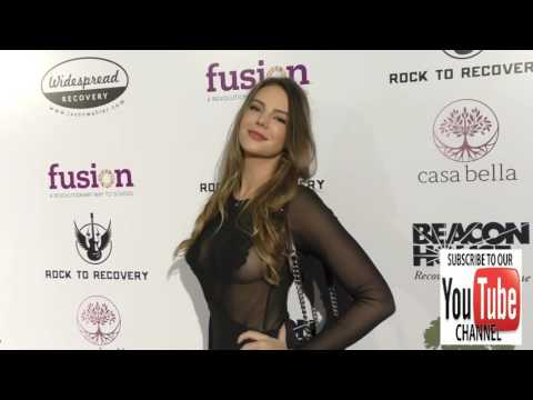 Zita Vass arriving to Rock For Recovery at the Fonda Theatre in Hollywood