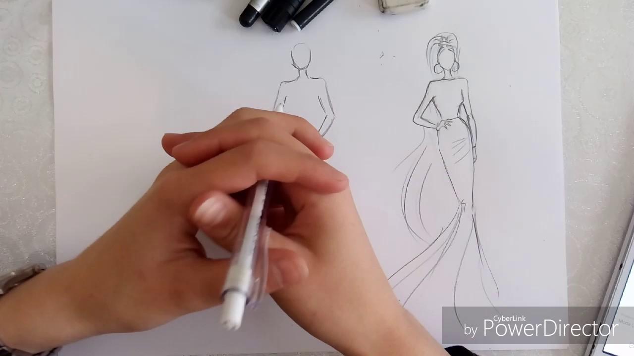 Kolay El çizimi Fashion Sketches Youtube