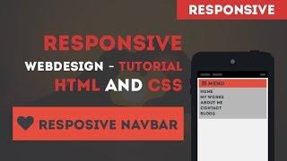 Responsive Web Design - Responsive Navigation - html and css