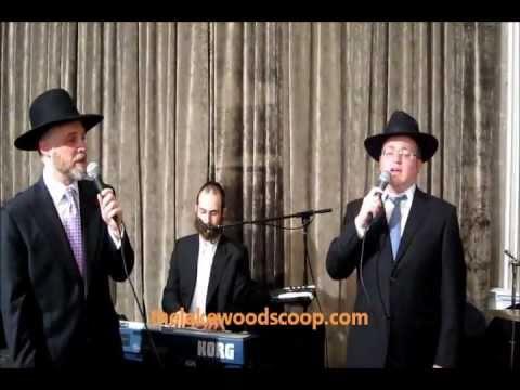 Yisroel Meir Shapiro, Baruch Levine Dovid Gabay At Shapiro Chasunah