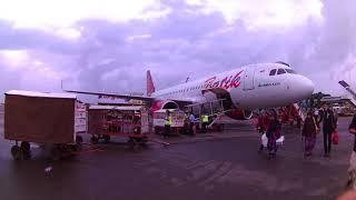 Turun Pesawat Batik Air Airbus 320 Terminal Kedatangan 1c Bandara Internasional Soekarno Hatta