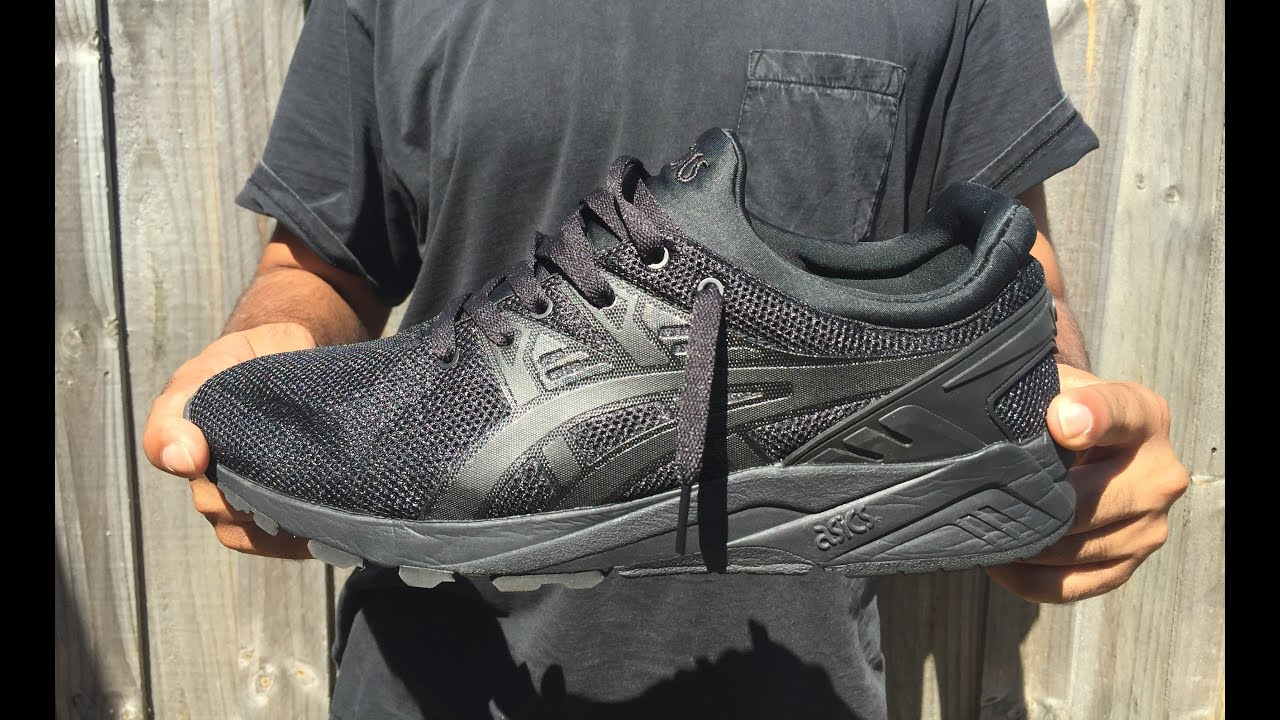vacío Arrestar templo  ASICS | Gel Kayano Trainer Evo Black Monochrome - On feet - YouTube