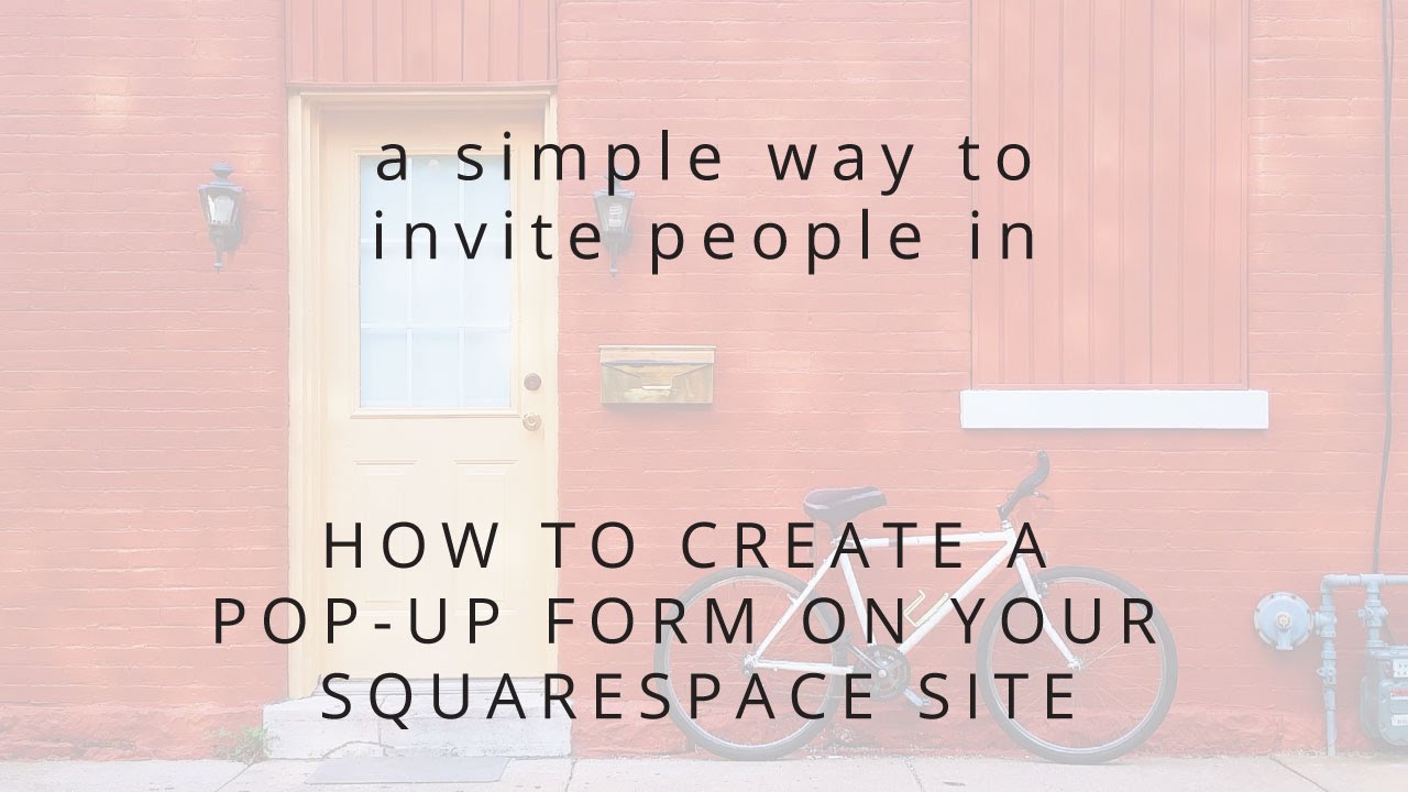 how to create a squarespace website youtube