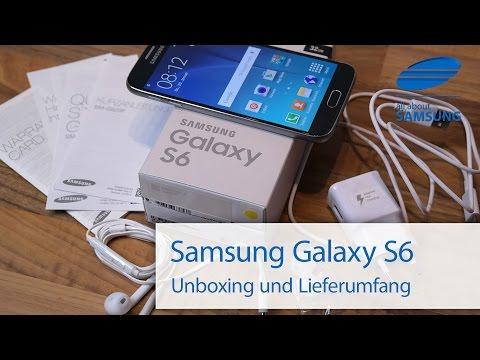 Samsung Galaxy S6 Unboxing und Lieferumfang deutsch HD