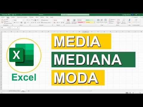 Como Calcular Media, Mediana Y Moda En Excel