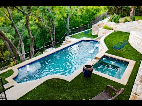 Extreme Hillside Pool, Spa and Outdoor Living in Ft Worth