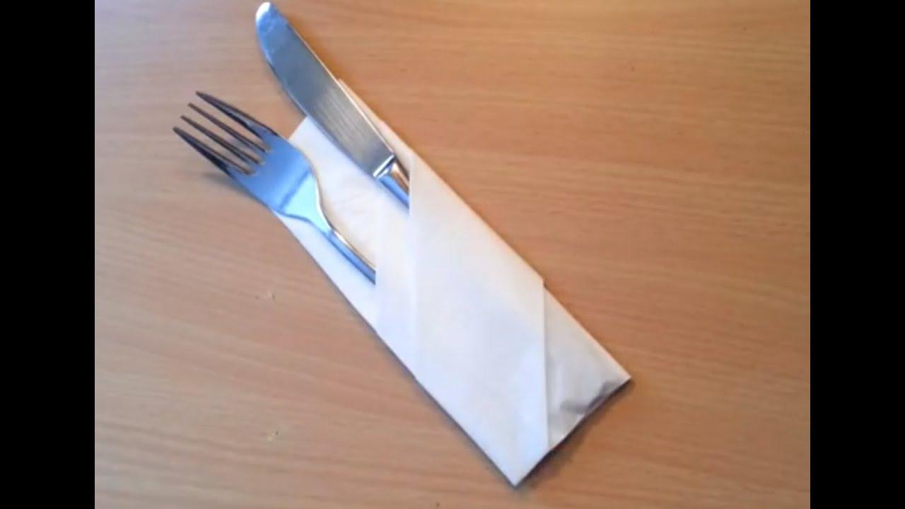 Plier Une Serviette En Range Couvert Decorer Une Table Pour Reception Youtube