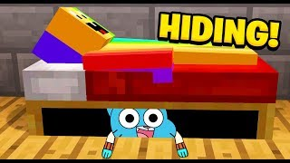Minecraft : I Found GUMBALL HIDING UNDER MY BED! (Ps3/Xbox360/PS4/XboxOne/PE/MCPE)