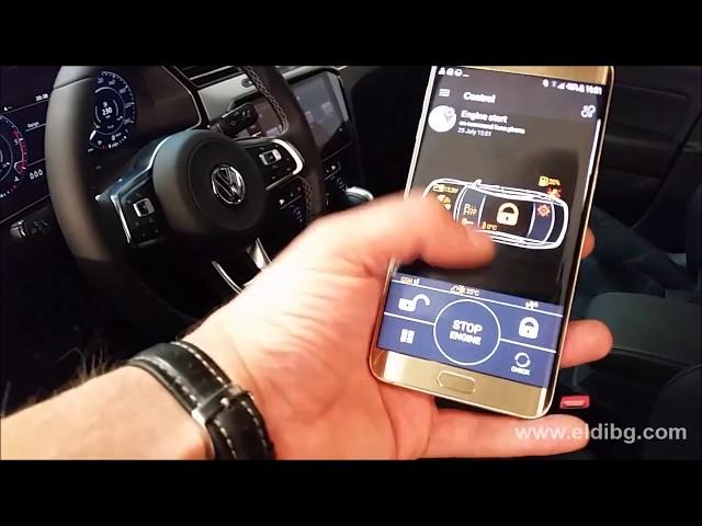 Remote Start engine for VW Arteon with Pandora Smart Pro alarm system GPS GPRS GSM telemetry