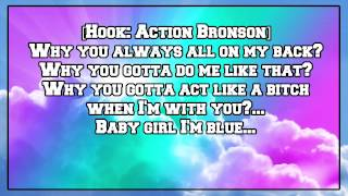 Action Bronson - Baby Blue (feat. Chance the Rapper) [Lyric Video]
