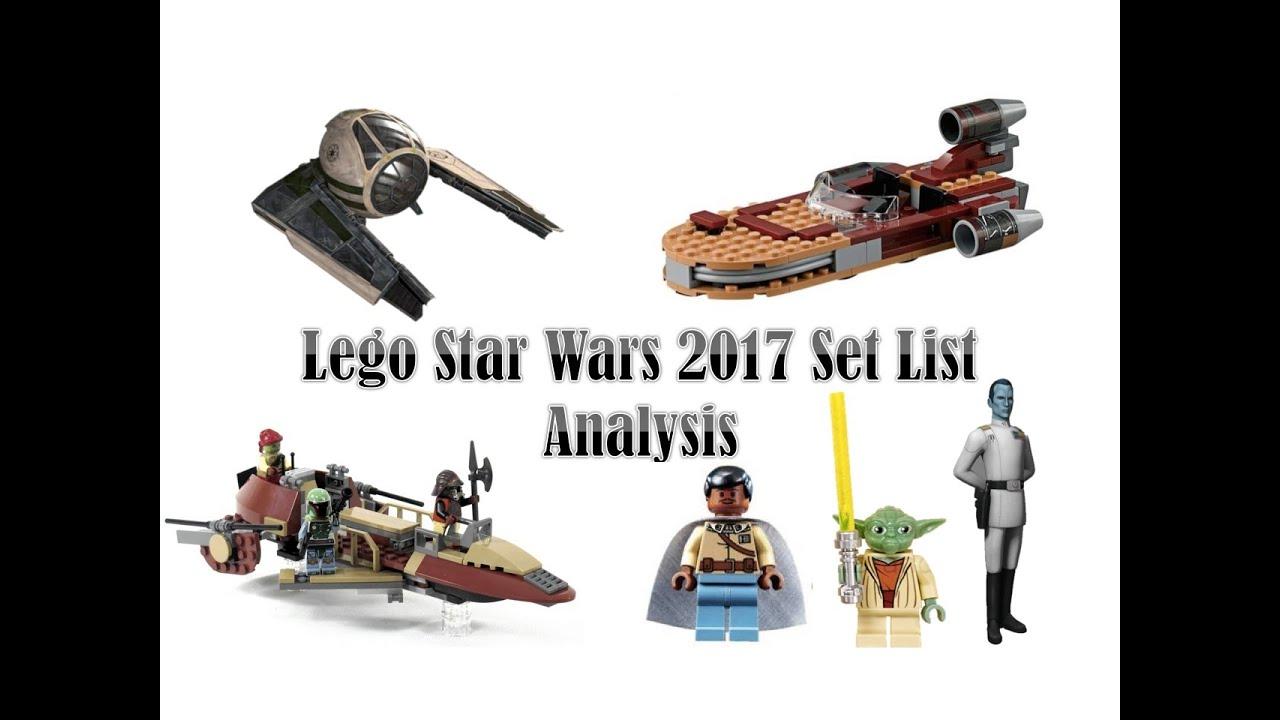 Lego Star Wars 2017 Winter Sets List Analysis - YouTube