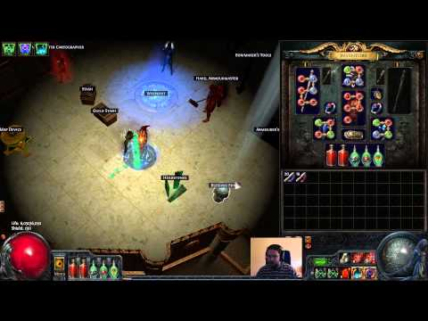 [GUIDE] My Summon raging spirits speed level / mapping character! Path of exile POE SRS summoner