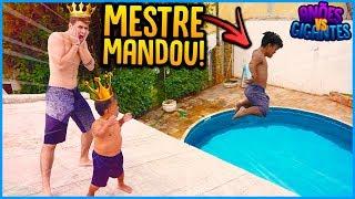 ANÕES VS GIGANTES: MESTRE MANDOU NA PISCINA!! [ REZENDE EVIL ]