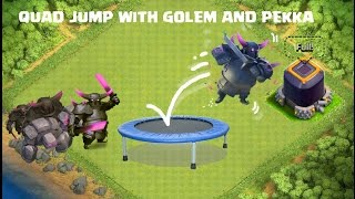 Fun Attack: Farming Dark Elixir with Quad/Tri-Jump with Golem and pekka