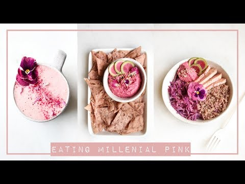 Eating Only Pink Food 💕🍴🍑 // What I Eat in a Day Vegan