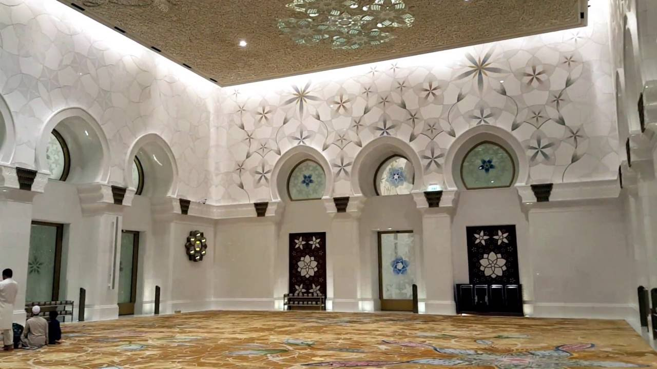 Father Sheikh Zayed Mosque Uae Inside Mosque Fhd 1080 Youtube