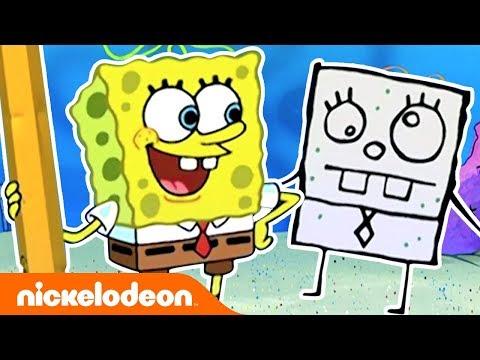 DoodleBob Comes To Life! ✏️ Ft. SpongeBob SquarePants | #TBT