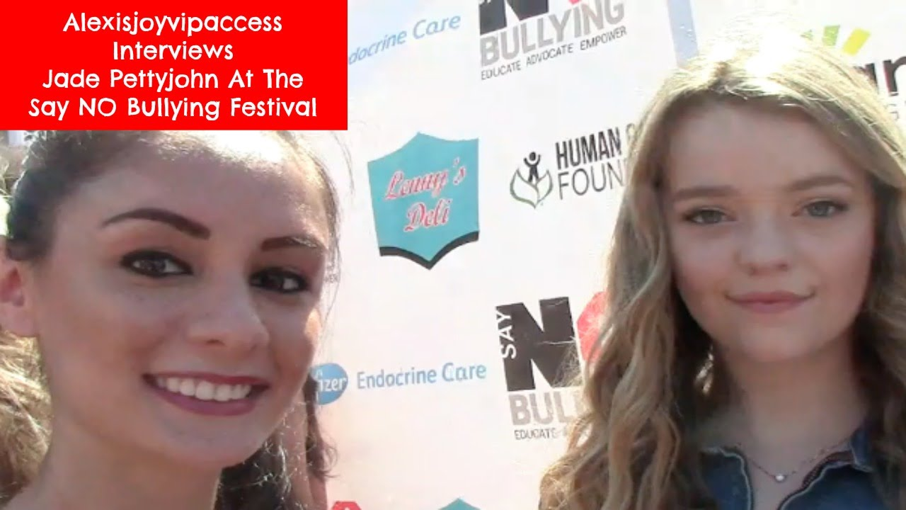 School of rock s jade pettyjohn interview alexisjoyvipaccess say no bullying festival youtube