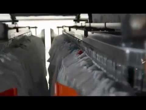 Конвейер для одежды в химчистку и гардероб