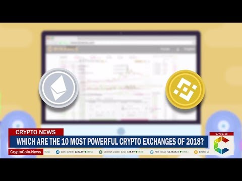 Which are the 10 Most Powerful Crypto Exchanges of 2018?