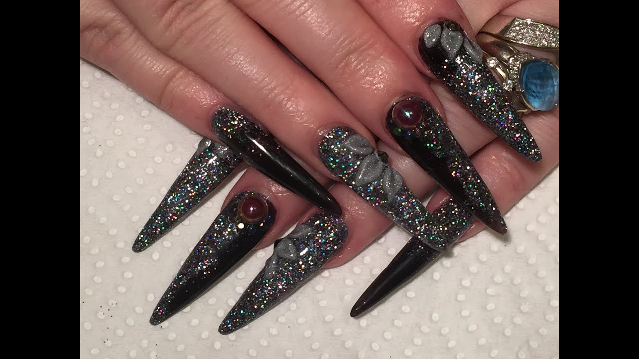 Acrylic Nails Long Sculpted Stiletto How To