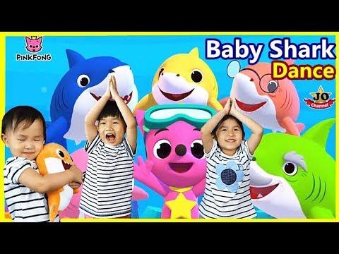 Baby Shark Challenge 榀婇瓪涓�瀹堕珨鎿嶅拰鑸炶箞 鎸戞埌榀婇瓪涓�瀹跺厭绔ュ厭姝� 纰扮鐙� Baby Shark Dance By Jo Channel