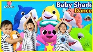 Baby Shark Challenge 鯊魚一家體操和舞蹈 挑戰鯊魚一家兒童兒歌 碰碰狐 Baby Shark Dance By Jo Channel