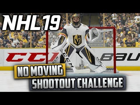 Can I Win a Shootout Without Moving My Goalie? (NHL 19 Challenge)