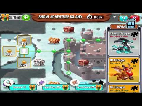 Dragon City: Full Christmas Snow Adventure Island Map + All Dragons Location