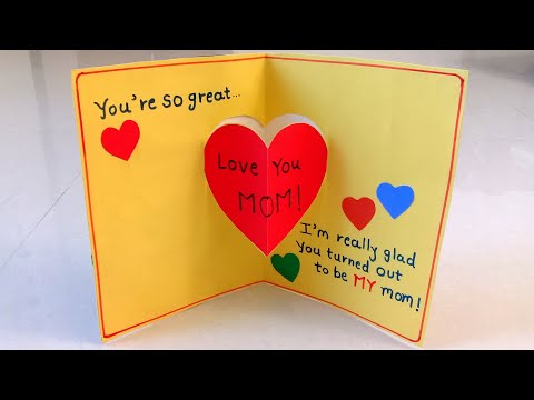 Handmade Mother's Day Card | Mother's Day Pop Up Card Making Idea..#mothersdaycard