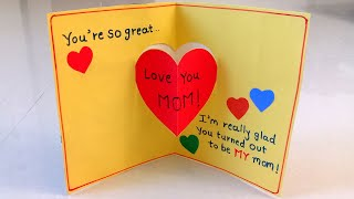 Handmade Mother's Day Card   Mother's Day Pop Up Card Making Idea..#mothersdaycard