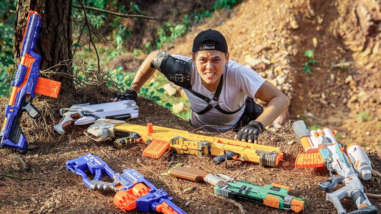 LTT Game Nerf War : Warriors SEAL X Nerf Guns Fight Rocket Crazy Battle Of Crime AND Police