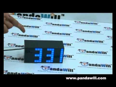 Blue Led Light Alarm Clock With Calendar Temperature