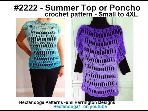 Crochet Poncho Or Summer Top 2222yt Make S 4xl Free Crochet