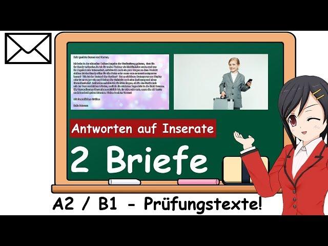 Brief Schreiben Deutsch A2b1 Musterbriefe Antworten Auf