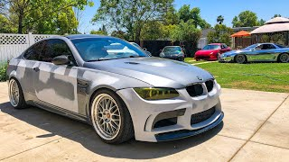 How to Wrap a BṀW M3 At Home In Nardo Grey DIY Guide