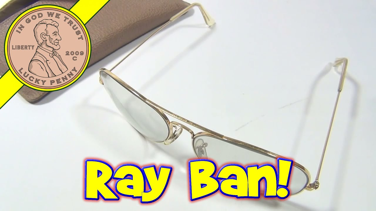 ad5f2ee524 Ray Ban Vintage 70 s Shooting Glasses - Bausch   Lomb Gray Tinted Lenses  With Case