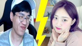 롤 여캠 도장깨기 보겸 vs BJ안겨 여캠멘탈 폭격기 이번에도 성공?!