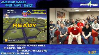 Super Monkey Ball - Speed Run in 22:35 (Expert) by Miles live for Awesome Games Done Quick 2013