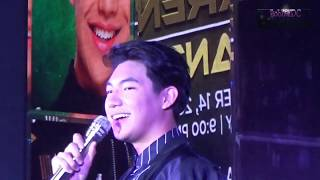 Darren Espanto singing Treasure in Thunderbird Rizal