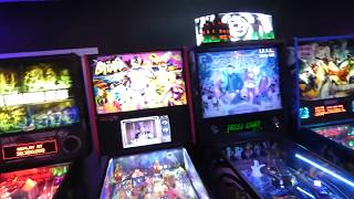PINBALL Arcade at HOME - My Cousins Basement is the COOLEST EVER